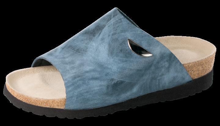 Vollrindleder | jeansblau