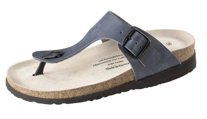 Vollrindleder / jeansblau